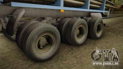 MAZ 99864 Remorque v1 pour GTA San Andreas vue arrière