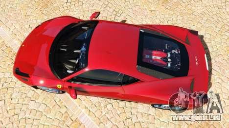 GTA 5 Ferrari 458 Italia v2.0 [add-on] Rückansicht