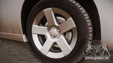 Dodge Charger 2013 Undercover pour GTA San Andreas vue arrière