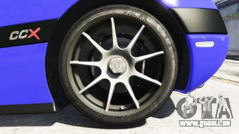 GTA 5 Koenigsegg CCX 2006 [Autovista] v2.0 [add-on] hinten rechts