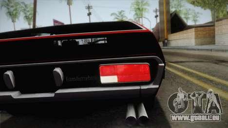 Lamborghini Espada S3 39 1972 pour GTA San Andreas vue arrière