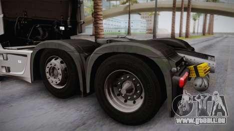 Mercedes-Benz Actros Mp4 6x2 v2.0 Steamspace für GTA San Andreas rechten Ansicht