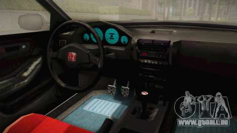 Honda Integra Type R pour GTA San Andreas vue intérieure