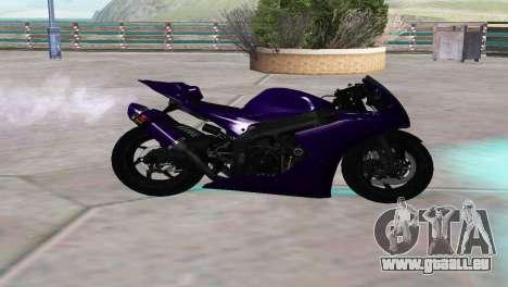 Aprilia RSV4 SPORTS pour GTA San Andreas laissé vue