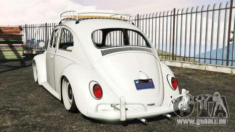 GTA 5 Volkswagen Fusca 1968 v1.0 [add-on] hinten links Seitenansicht
