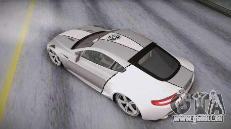 NFS: Carbon TFKs Aston Martin Vantage pour GTA San Andreas vue intérieure
