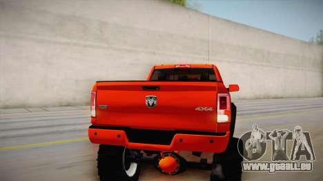 Dodge Ram 2500 Lifted Edition für GTA San Andreas obere Ansicht