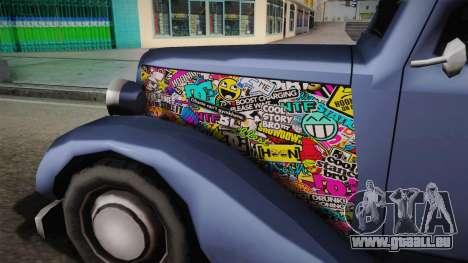 Hustler Old Sticks für GTA San Andreas Rückansicht
