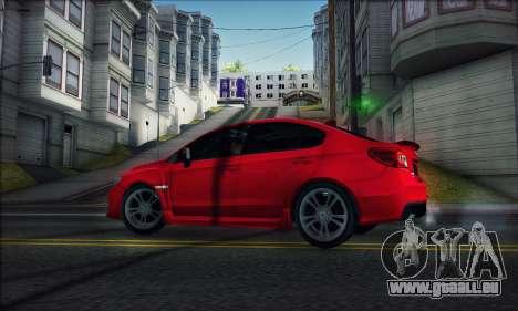 Subaru WRX 2015 für GTA San Andreas zurück linke Ansicht