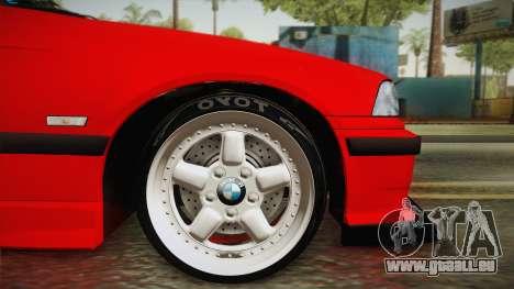 BMW M3 E36 Stance für GTA San Andreas zurück linke Ansicht