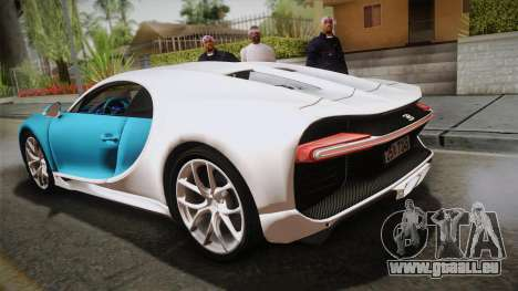 Bugatti Chiron 2017 v2.0 Korean Plate für GTA San Andreas linke Ansicht