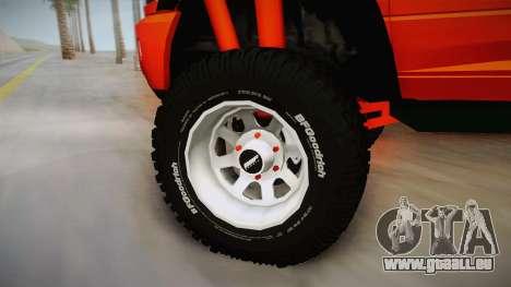 Dodge Ram 2500 Lifted Edition für GTA San Andreas Rückansicht