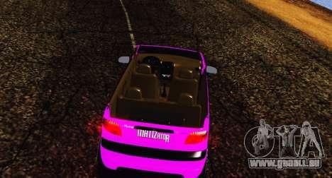 Daewoo Matiz pour GTA San Andreas laissé vue