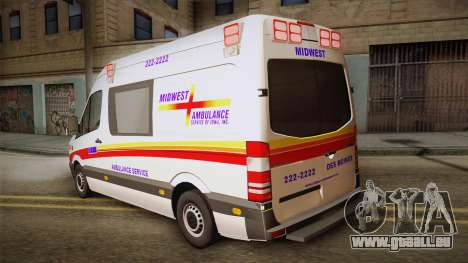 Mercedes-Benz Sprinter 2012 SA EMS Alliance für GTA San Andreas linke Ansicht