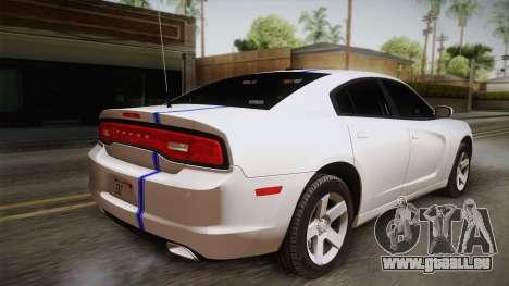 Dodge Charger 2013 Undercover pour GTA San Andreas laissé vue