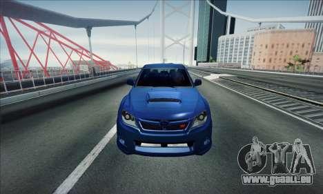 Subaru Impreza WRX STI 2011 pour GTA San Andreas laissé vue