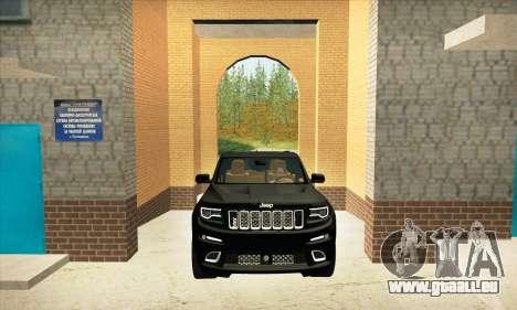 Jeep Cherokee SRT 8 pour GTA San Andreas vue intérieure