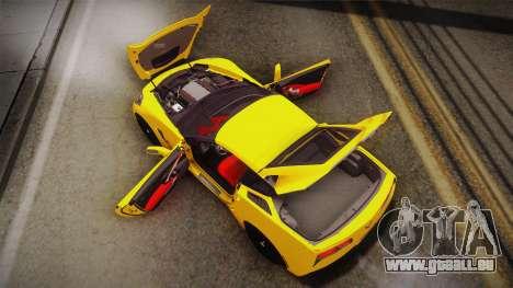 Chevrolet Corvette Stingray 2015 pour GTA San Andreas salon
