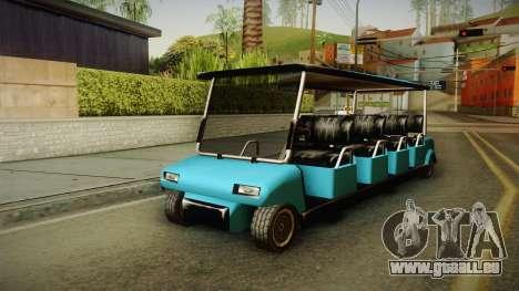 Caddy Limo für GTA San Andreas zurück linke Ansicht