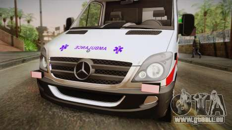 Mercedes-Benz Sprinter 2012 SA EMS Alliance für GTA San Andreas zurück linke Ansicht