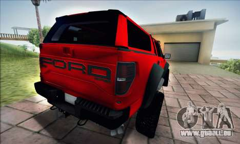Ford F150 Raptor Long V12 für GTA San Andreas zurück linke Ansicht