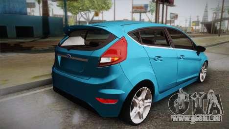 Ford Fiesta Kinetic Design pour GTA San Andreas laissé vue