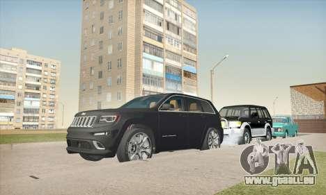 Jeep Cherokee SRT 8 für GTA San Andreas Rückansicht