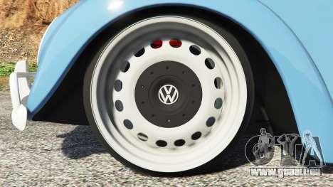 GTA 5 Volkswagen Fusca 1968 v0.9 [replace] arrière droit vue de côté