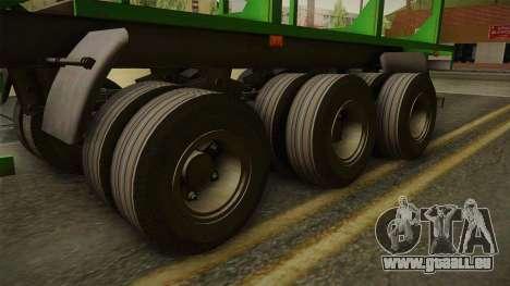 MAZ 99864 Trailer v2 pour GTA San Andreas vue arrière