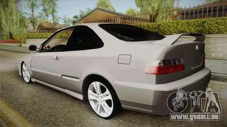 Honda Civic Coupe DX 1995 pour GTA San Andreas laissé vue