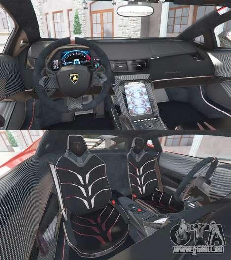 GTA 5 Lamborghini Centenario LP770-4 2017 v1.3 [a] hinten rechts