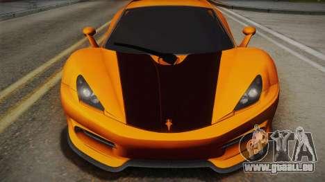 HTT Plethore LC750 2012 für GTA San Andreas zurück linke Ansicht