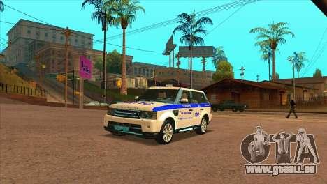 Range Rover Sport ДПС pour GTA San Andreas laissé vue
