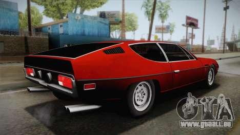 Lamborghini Espada S3 39 1972 pour GTA San Andreas laissé vue