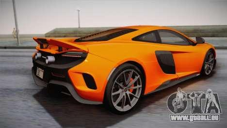 McLaren 675LT 2015 10-Spoke Wheels pour GTA San Andreas laissé vue