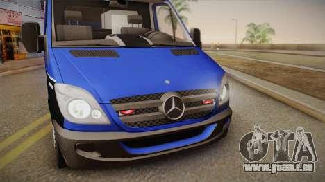 Mercedes-Benz Sprinter 2012 Midwest Ambulance für GTA San Andreas zurück linke Ansicht