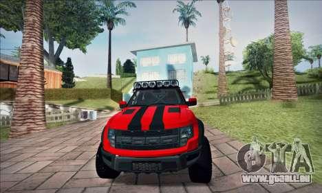 Ford F150 Raptor Long V12 pour GTA San Andreas vue de droite