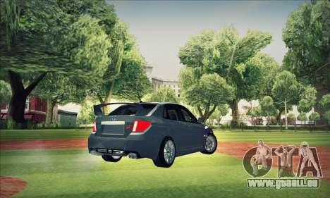 Subaru Impreza WRX STI 2011 pour GTA San Andreas vue de dessus