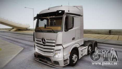 Mercedes-Benz Actros Mp4 6x2 v2.0 Steamspace pour GTA San Andreas