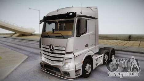 Mercedes-Benz Actros Mp4 6x2 v2.0 Steamspace pour GTA San Andreas