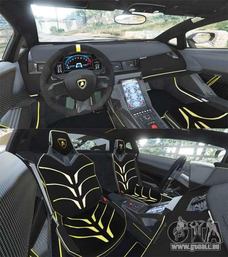 GTA 5 Lamborghini Centenario LP770-4 2017 [replace] hinten rechts