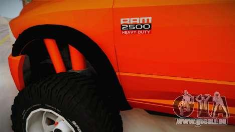 Dodge Ram 2500 Lifted Edition pour GTA San Andreas vue de côté