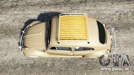 GTA 5 Volkswagen Fusca 1968 v0.8 [replace] Rückansicht