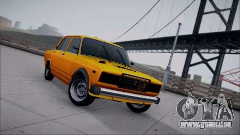 VAZ 2105 patch 1.1 pour GTA San Andreas vue arrière