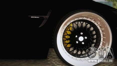 BMW M3 F30 pour GTA San Andreas vue arrière