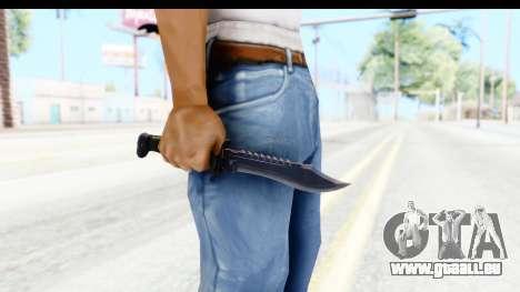 CS:GO - Bowie Knife für GTA San Andreas dritten Screenshot