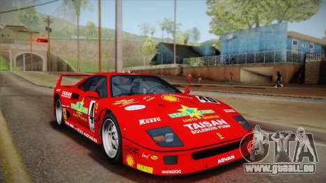 Ferrari F40 (US-Spec) 1989 HQLM für GTA San Andreas obere Ansicht