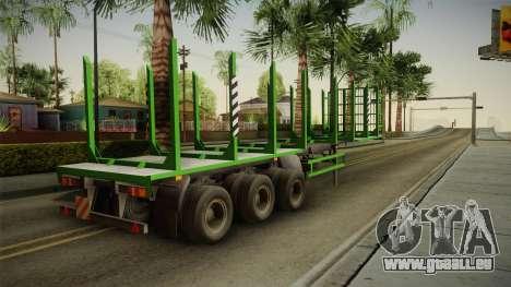 MAZ 99864 Trailer v2 pour GTA San Andreas laissé vue