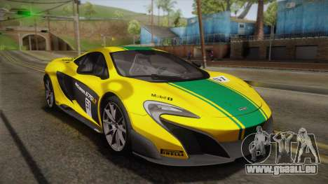 McLaren 675LT 2015 10-Spoke Wheels pour GTA San Andreas salon