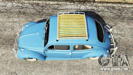 GTA 5 Volkswagen Fusca 1968 v0.9 [replace] vue arrière